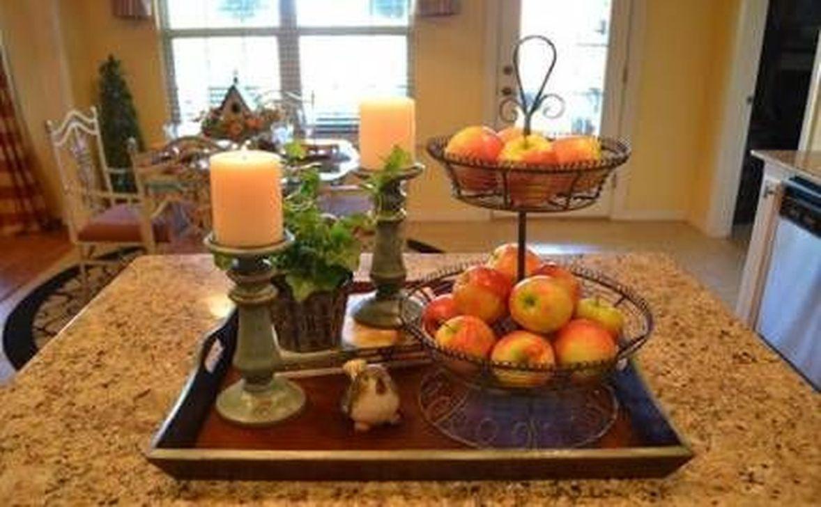 Beautiful Fall Theme Kitchen Island Decor Ideas 06