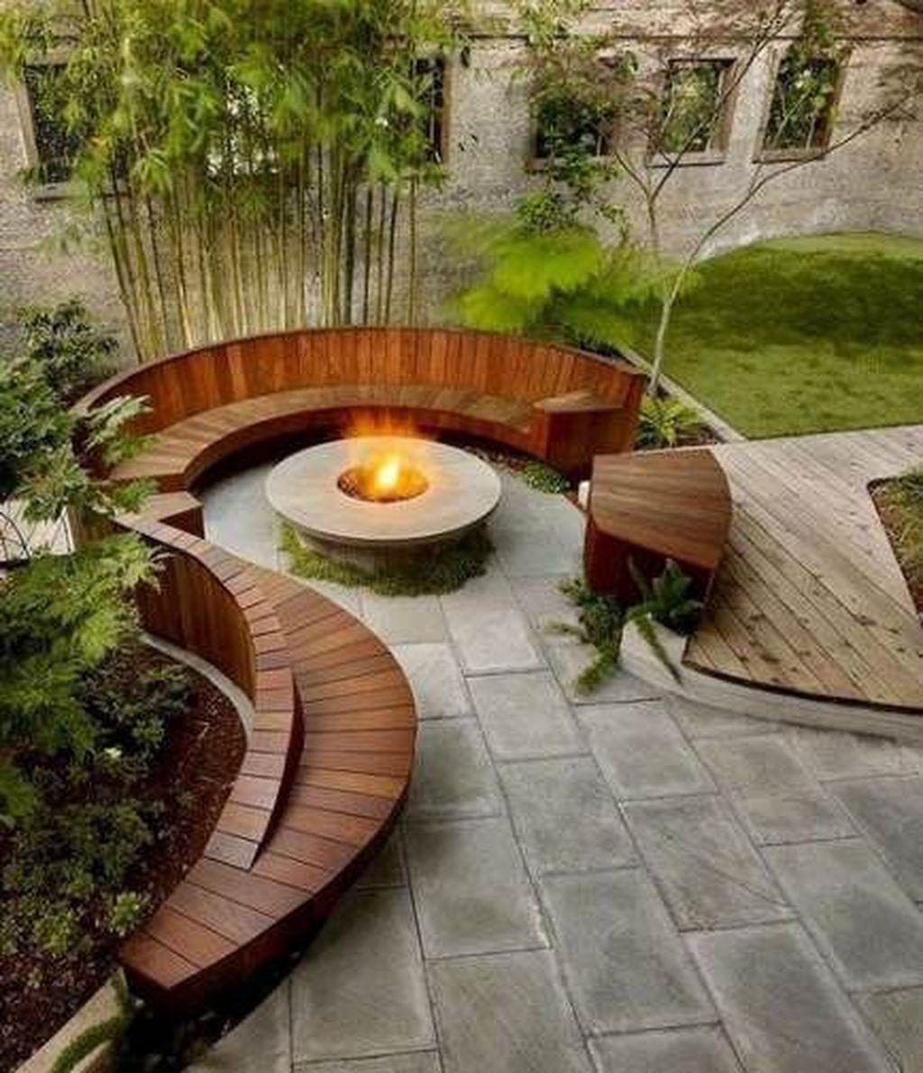Fabulous Stone Fire Pit Design And Decor Ideas 16