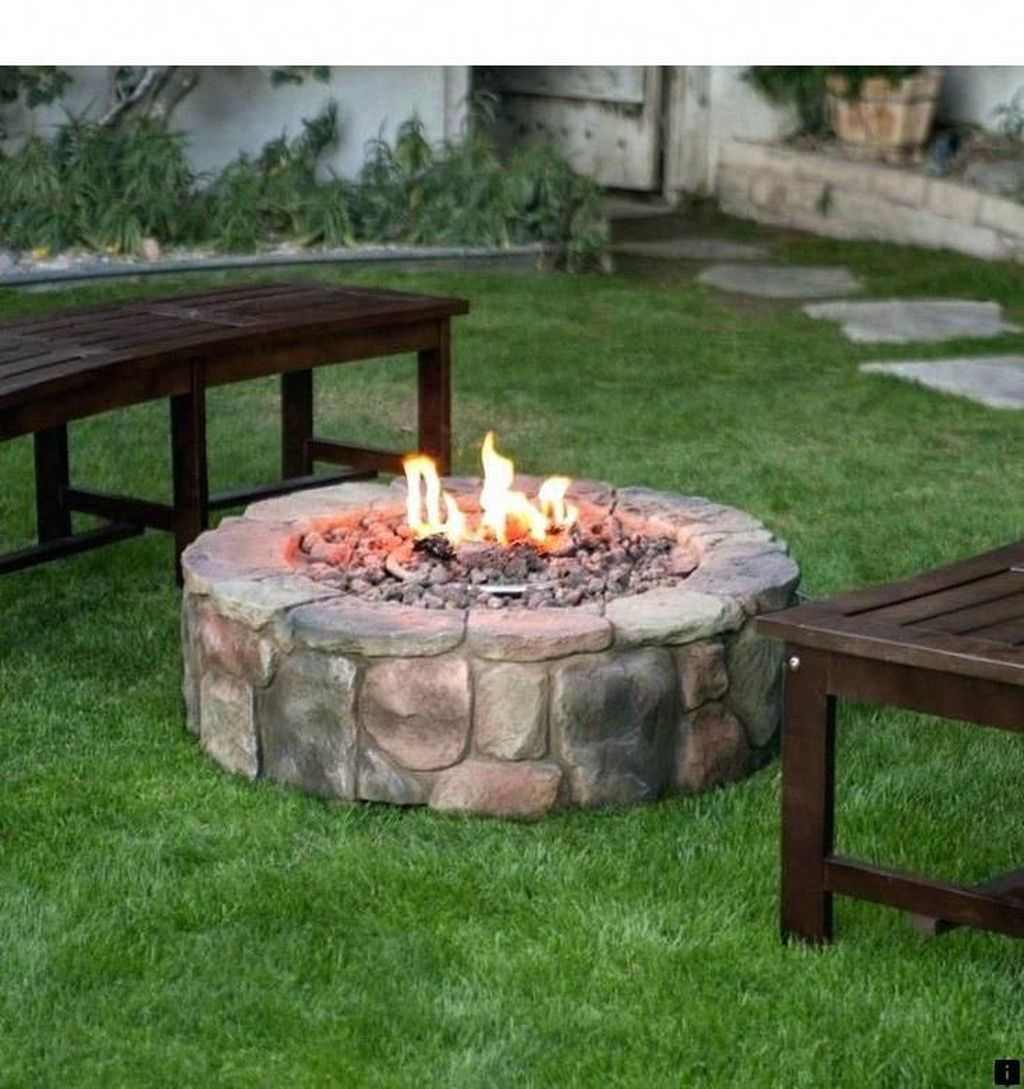 Fabulous Stone Fire Pit Design And Decor Ideas 23