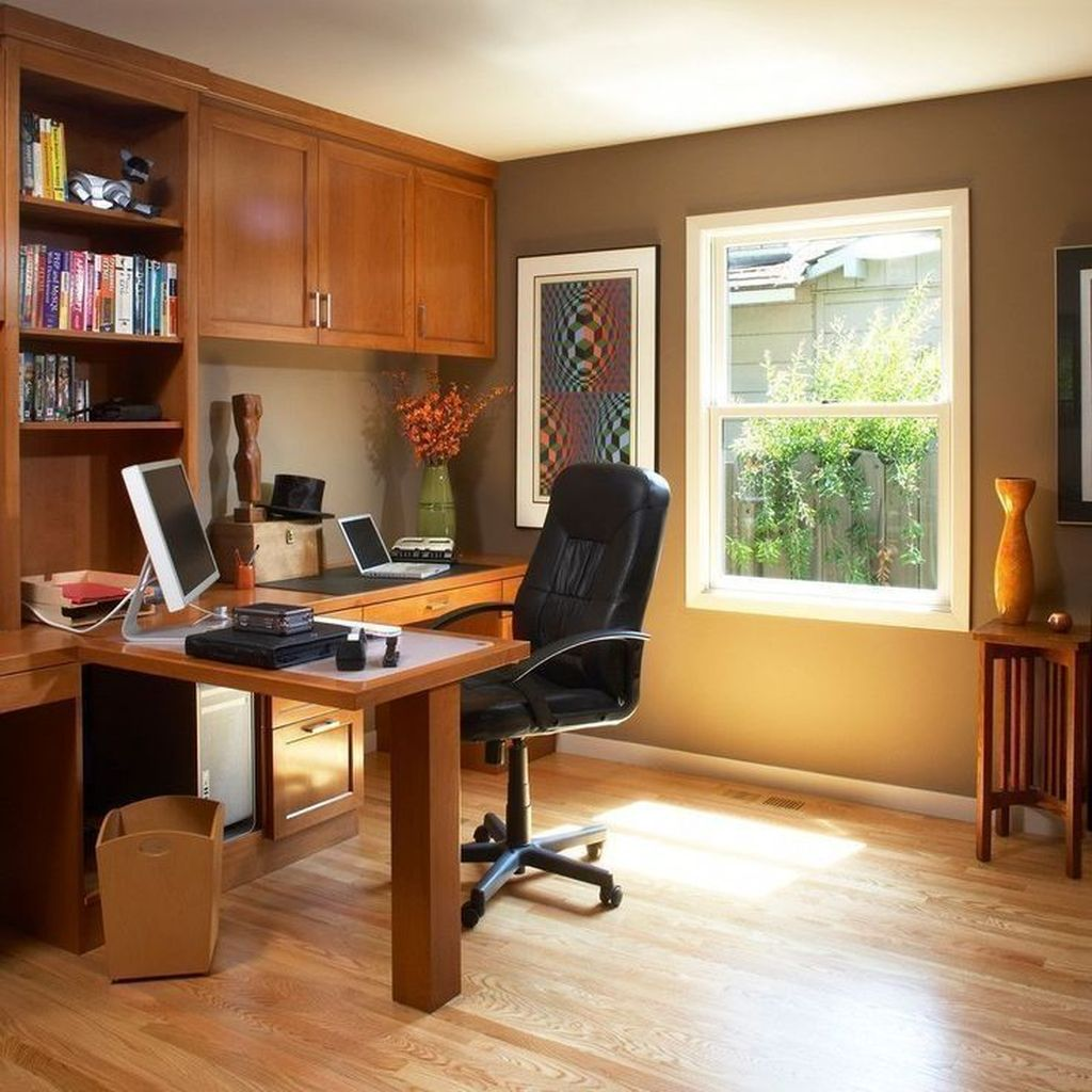 Gorgeous Home Office Design Ideas For Men 17