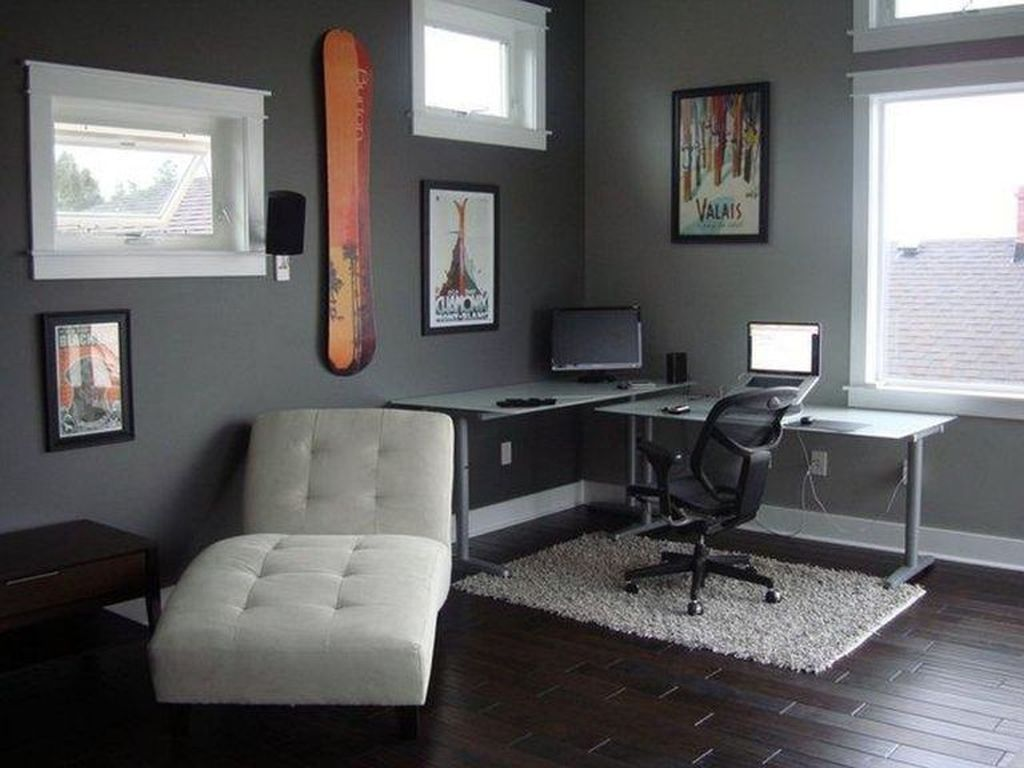 Gorgeous Home Office Design Ideas For Men 24