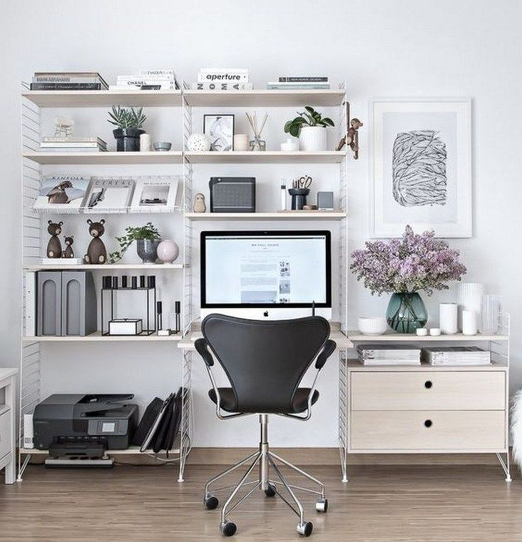Gorgeous Home Office Design Ideas For Men 26