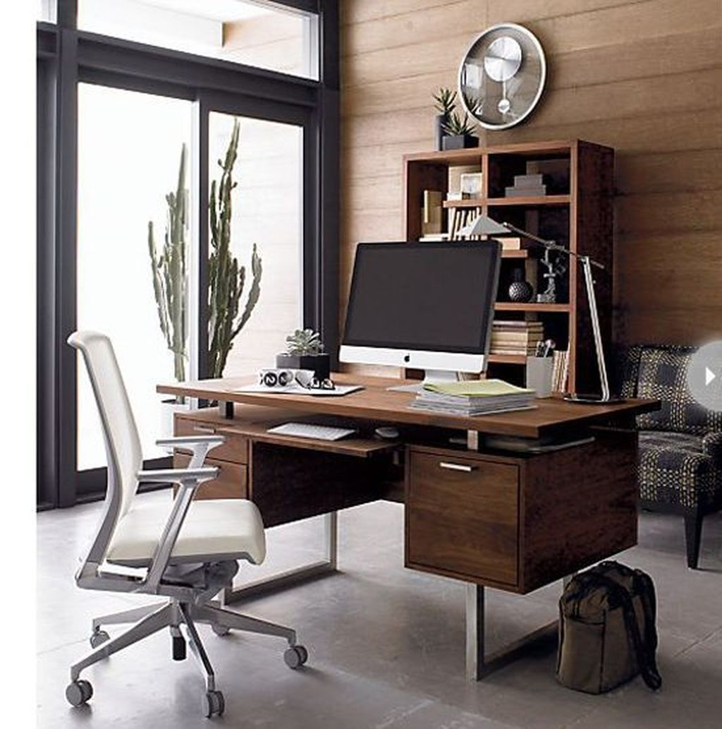 Gorgeous Home Office Design Ideas For Men 34