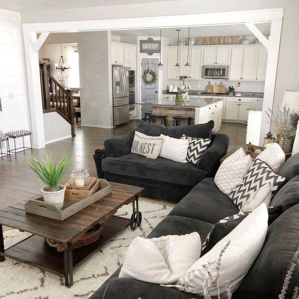 Incredible Rustic Farmhouse Living Room Design Ideas 02
