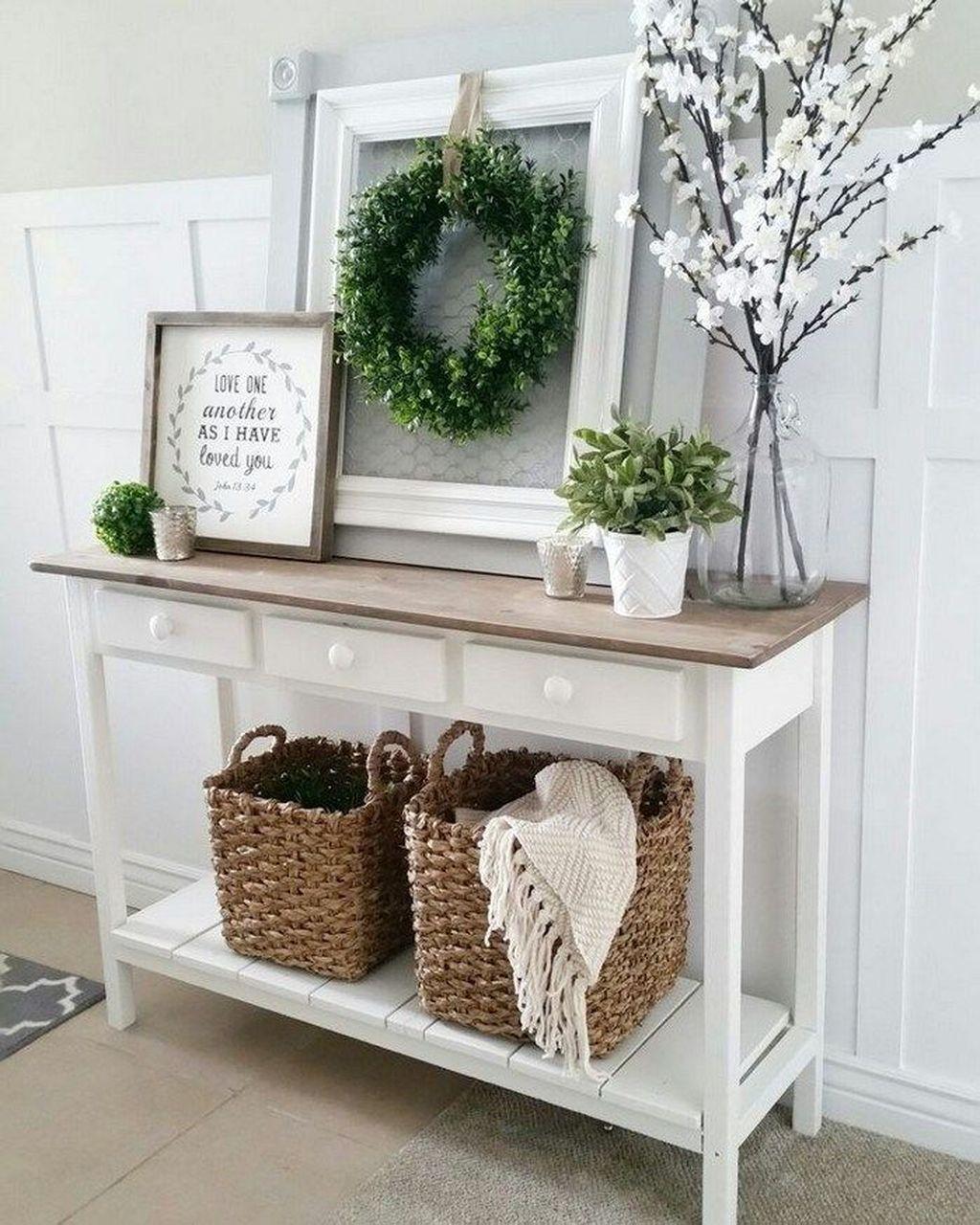 Incredible Rustic Farmhouse Living Room Design Ideas 07
