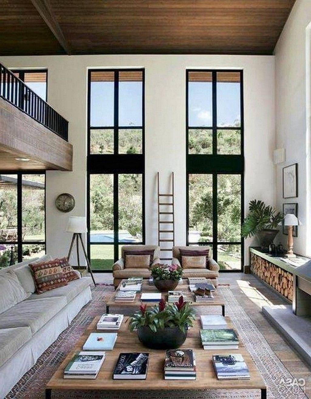 Incredible Rustic Farmhouse Living Room Design Ideas 10
