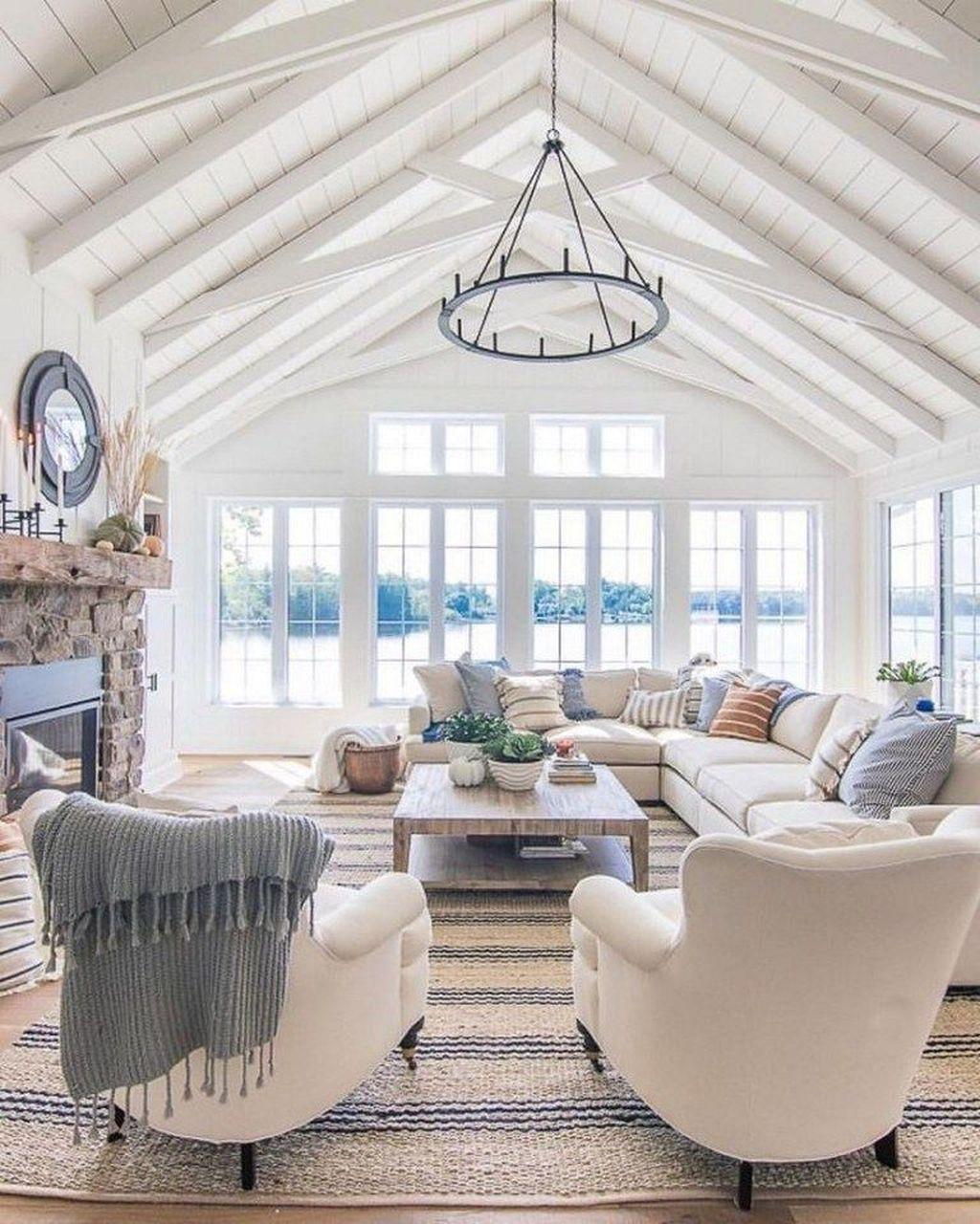 Incredible Rustic Farmhouse Living Room Design Ideas 22