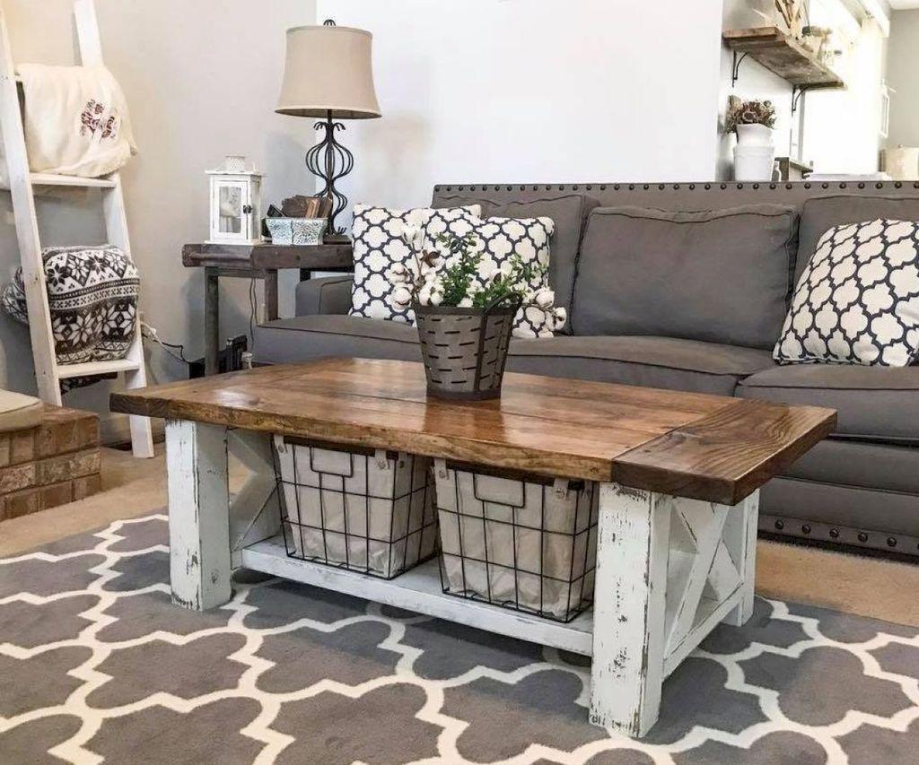 Incredible Rustic Farmhouse Living Room Design Ideas 27