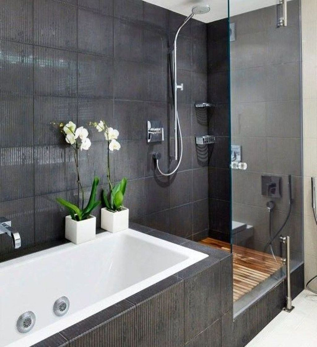 Inspiring Black Powder Room Design Ideas With Modern Style 02