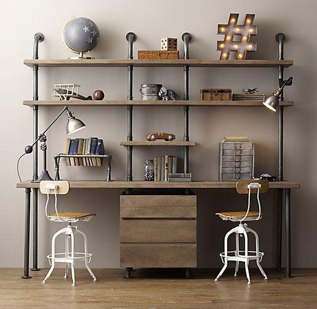 Inspiring Double Desk Home Office Design Ideas 13