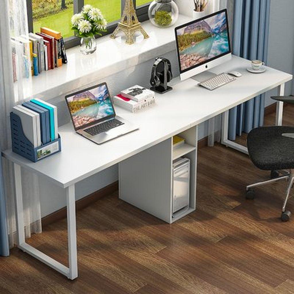 Inspiring Double Desk Home Office Design Ideas 19