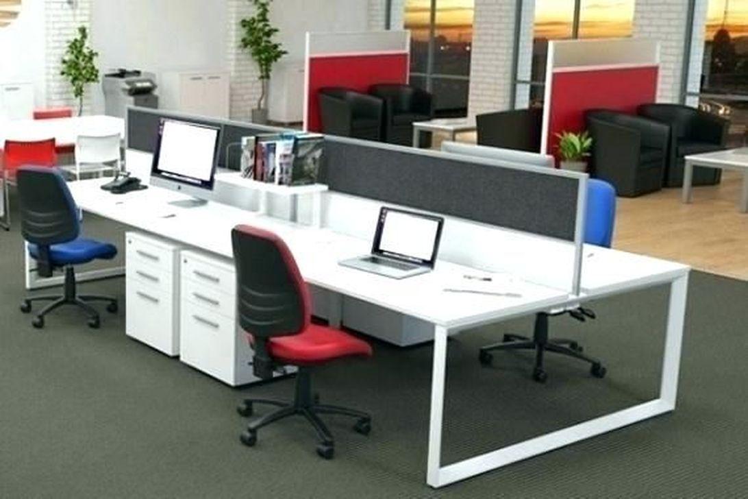 Inspiring Double Desk Home Office Design Ideas 22