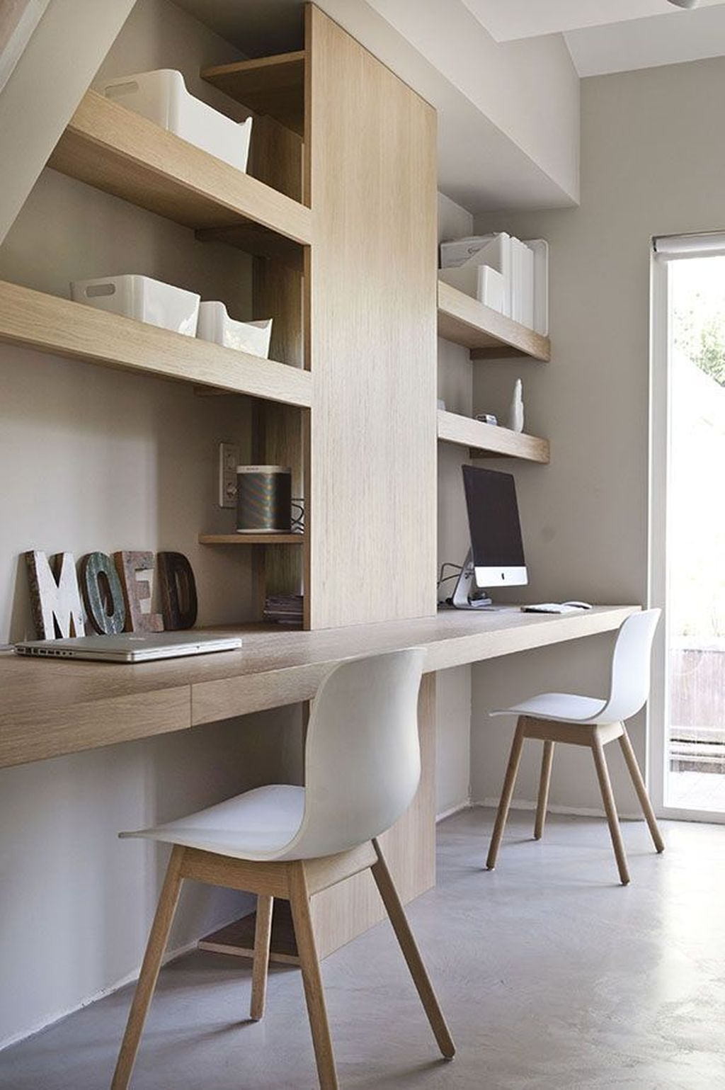 Inspiring Double Desk Home Office Design Ideas 28