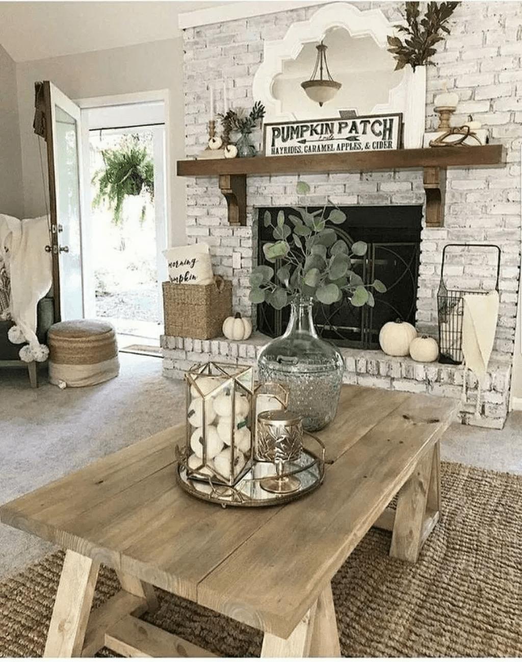 Inspiring Fall Living Room Decor Ideas On A Budget 02