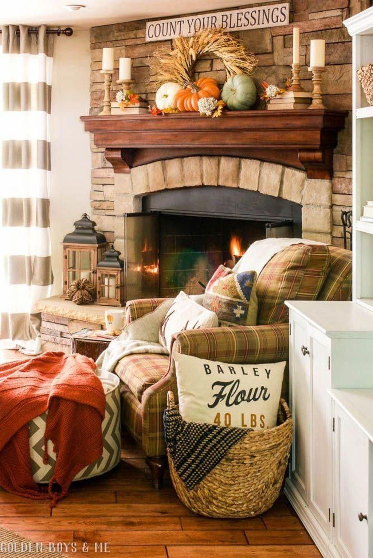 Inspiring Fall Living Room Decor Ideas On A Budget 12