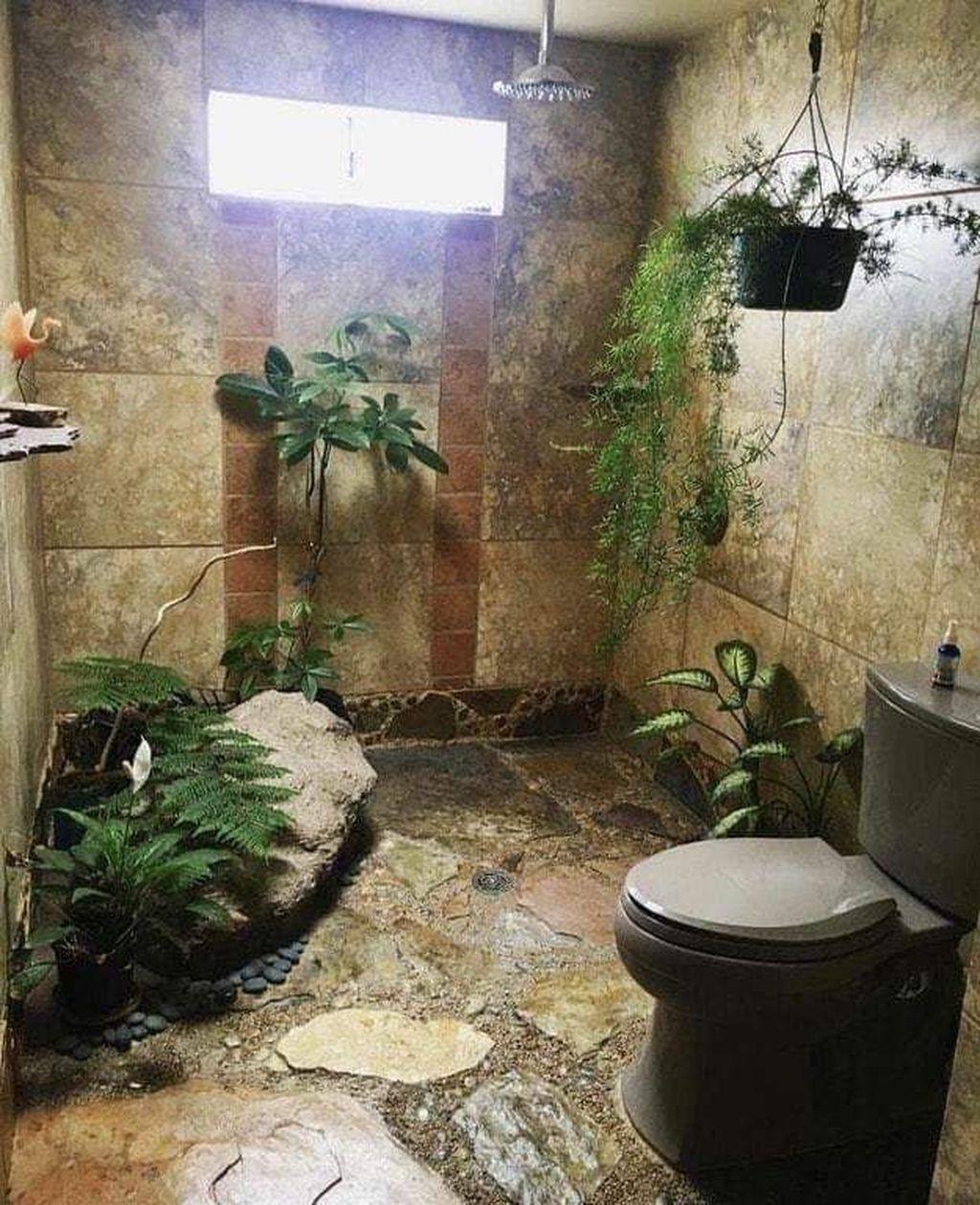 Inspiring Jungle Bathroom Decor Ideas 33