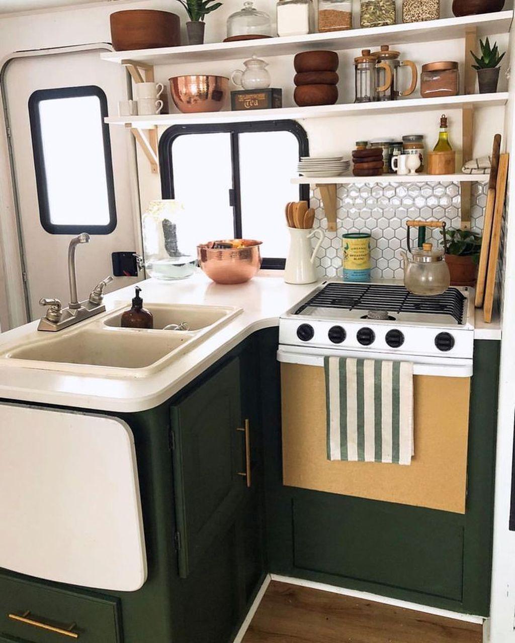 Inspiring RV Kitchen Design And Decor Ideas 19
