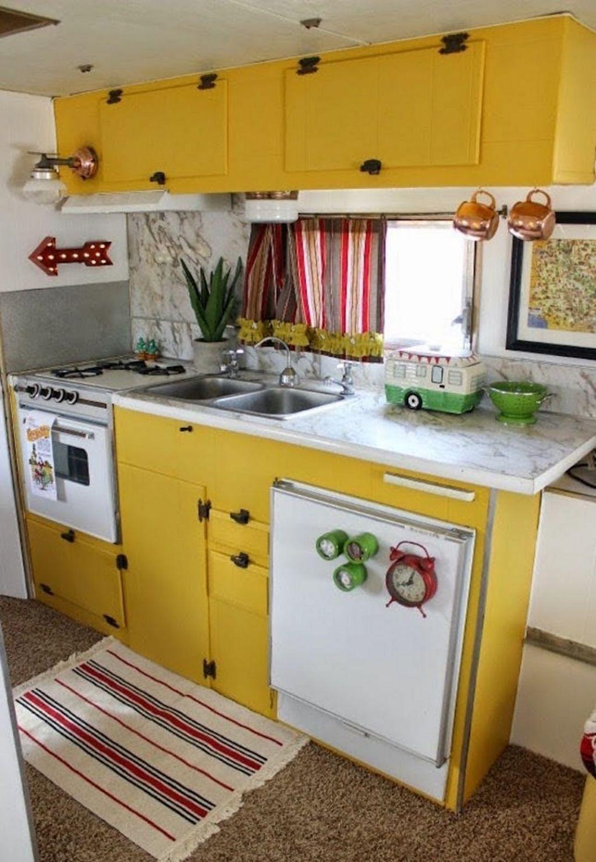 Inspiring RV Kitchen Design And Decor Ideas 29