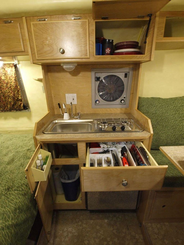 Inspiring RV Kitchen Design And Decor Ideas 31