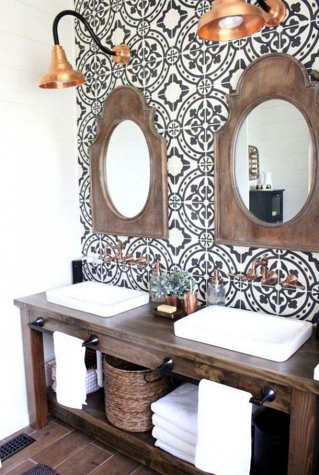 Lovely Farmhouse Bathroom Design Ideas 13