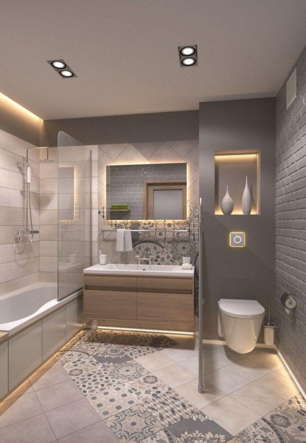 Lovely Farmhouse Bathroom Design Ideas 20