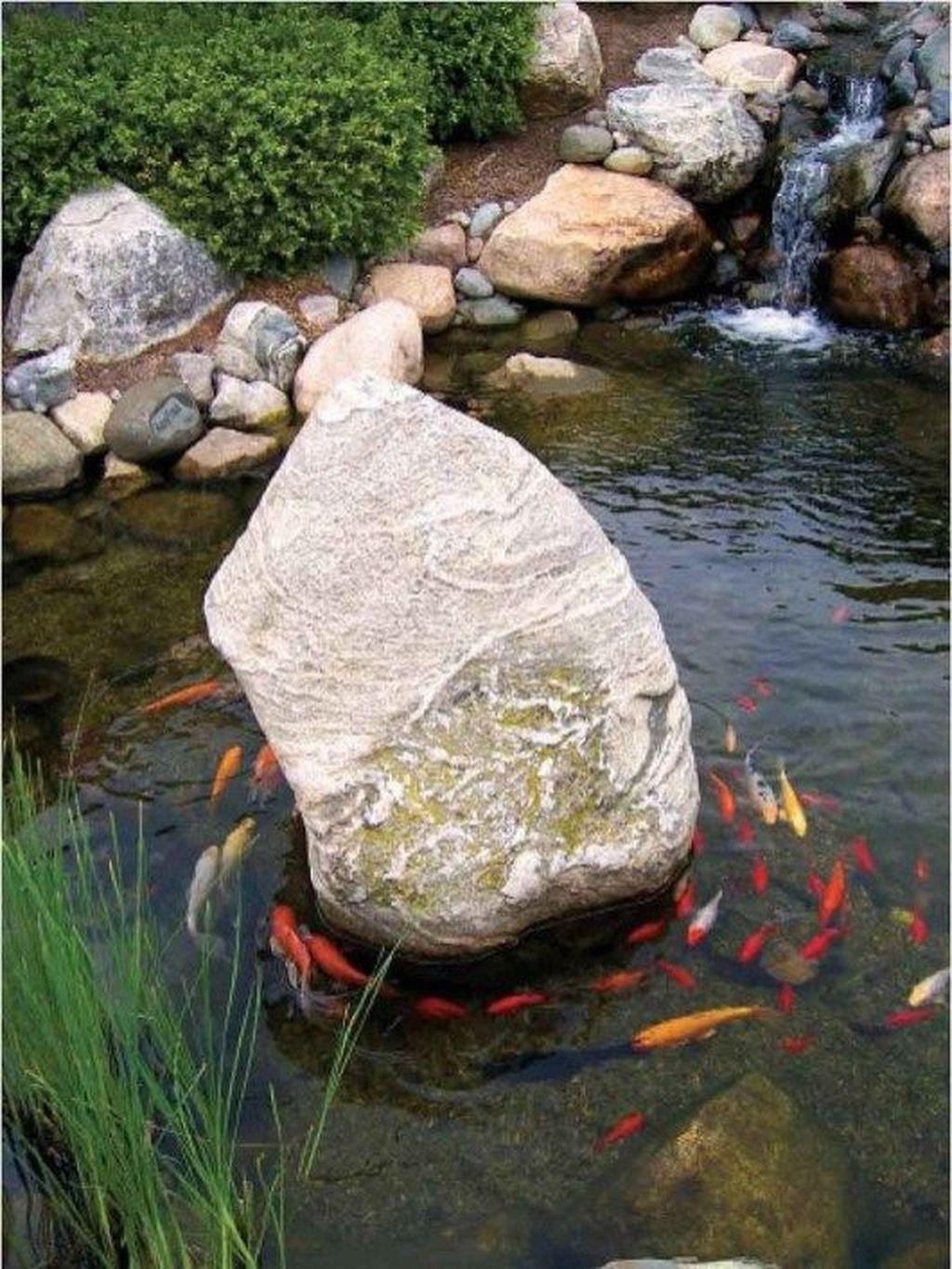 Nice Fish Ponds Backyard Decoration Ideas 07