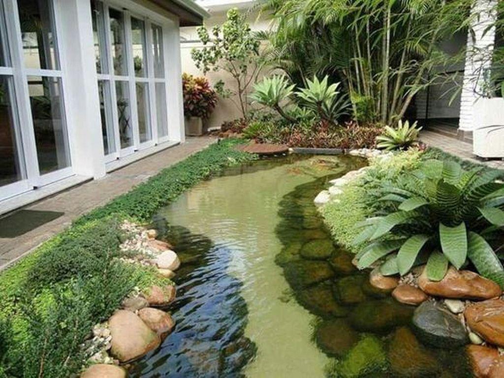 Nice Fish Ponds Backyard Decoration Ideas 15
