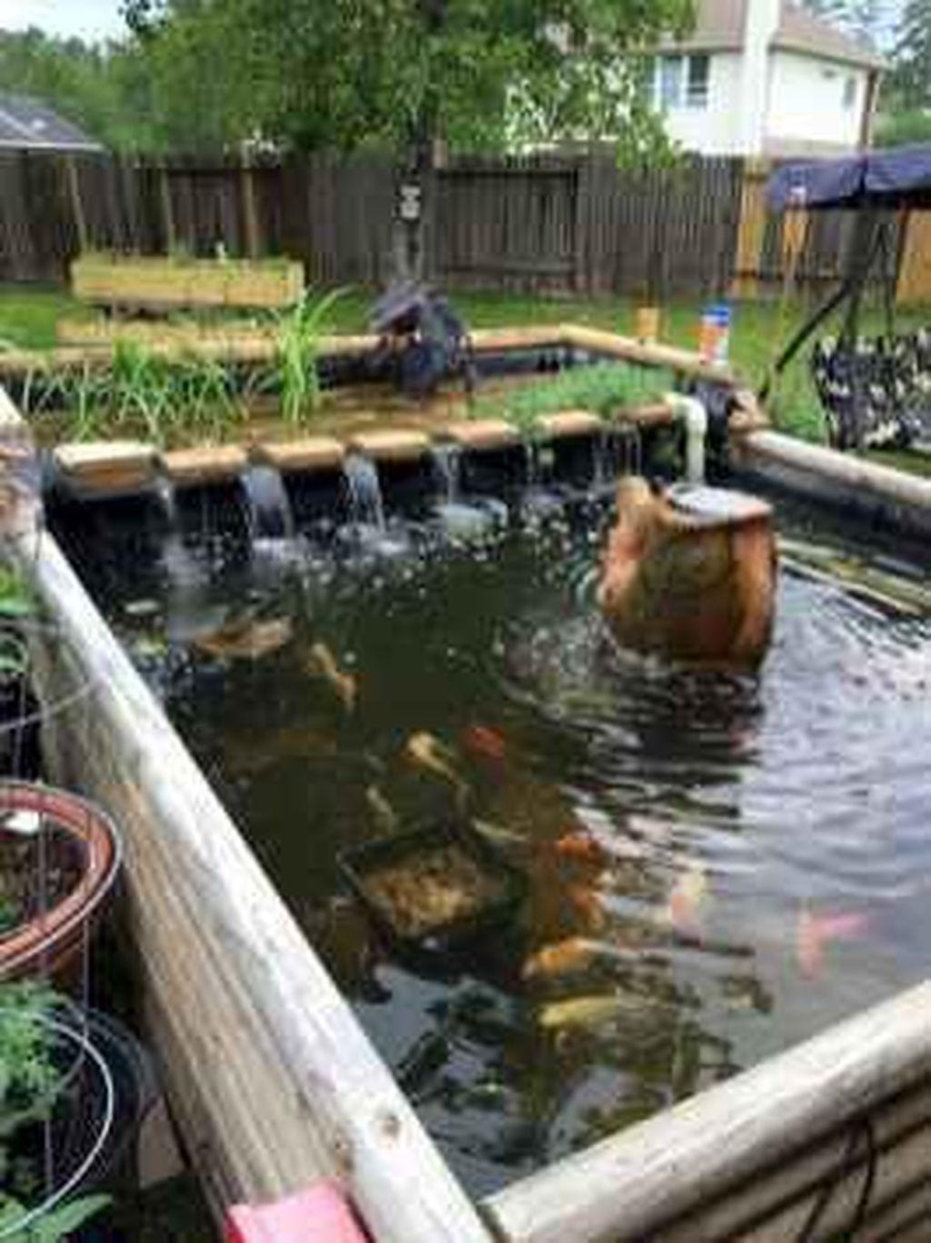 Nice Fish Ponds Backyard Decoration Ideas 30