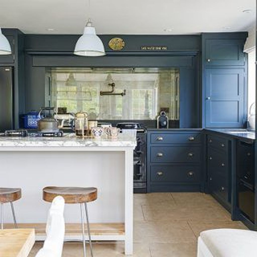 Stunning Navy Kitchen Cabinets Ideas You Have Must See 10