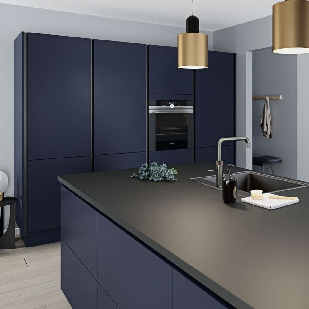 Stunning Navy Kitchen Cabinets Ideas You Have Must See 20