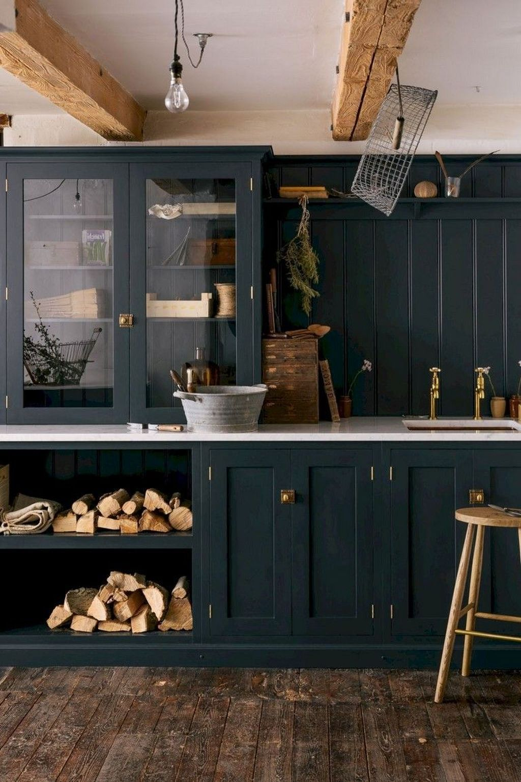 Stunning Navy Kitchen Cabinets Ideas You Have Must See 24