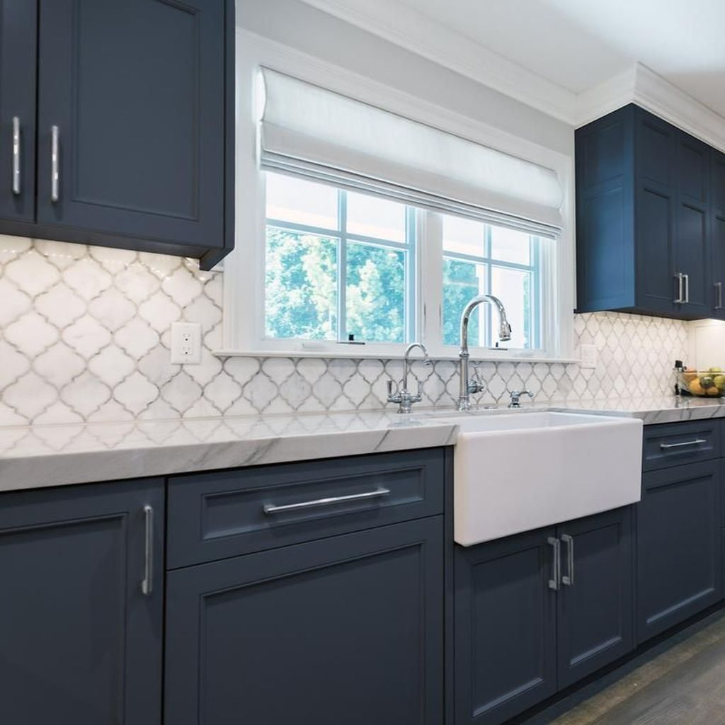 Stunning Navy Kitchen Cabinets Ideas You Have Must See 25