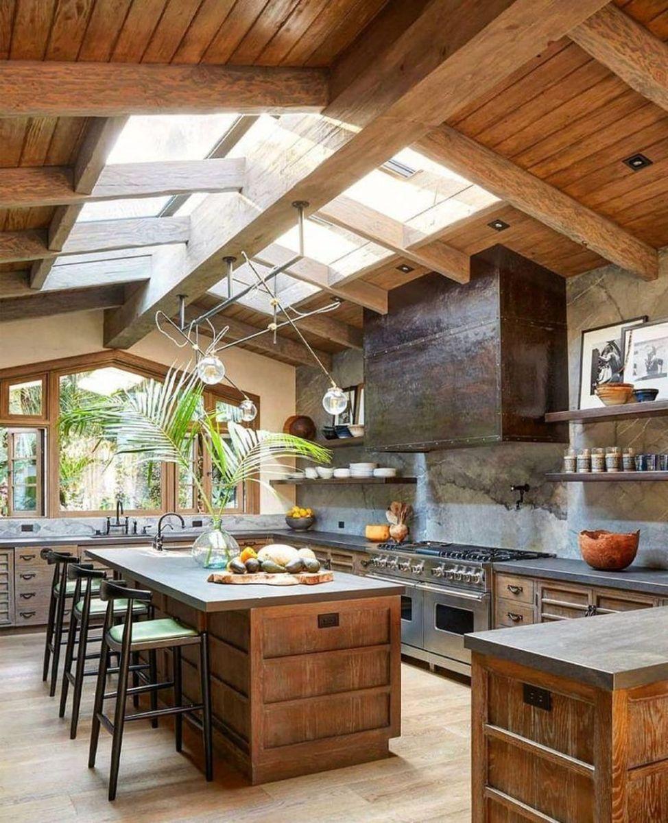 Stunning Rustic Kitchen Design And Decor Ideas 06
