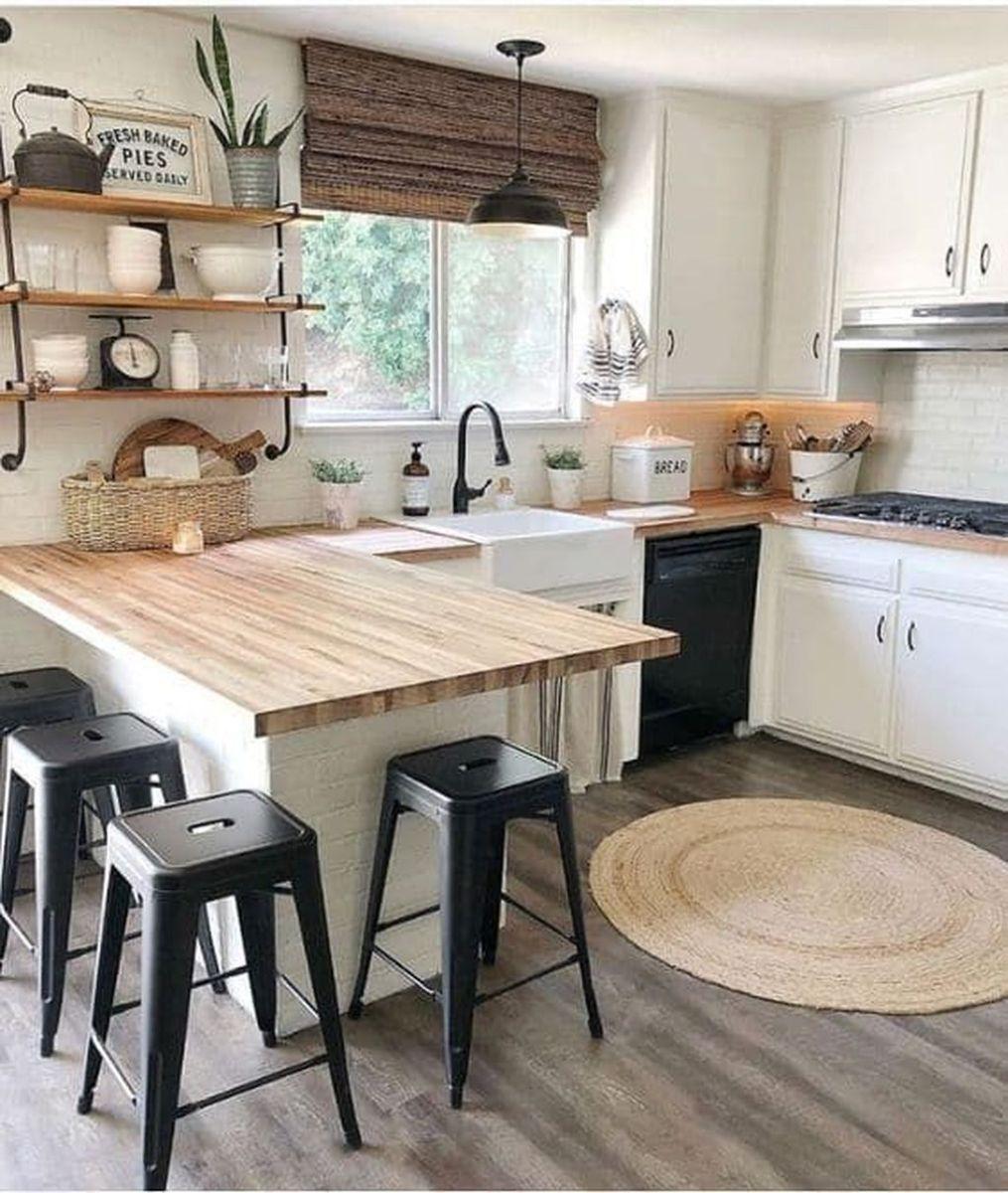 Stunning Rustic Kitchen Design And Decor Ideas 19