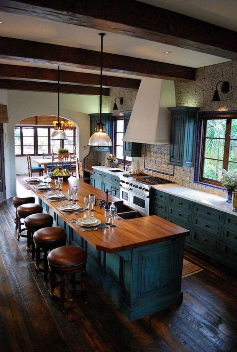 Stunning Rustic Kitchen Design And Decor Ideas 23