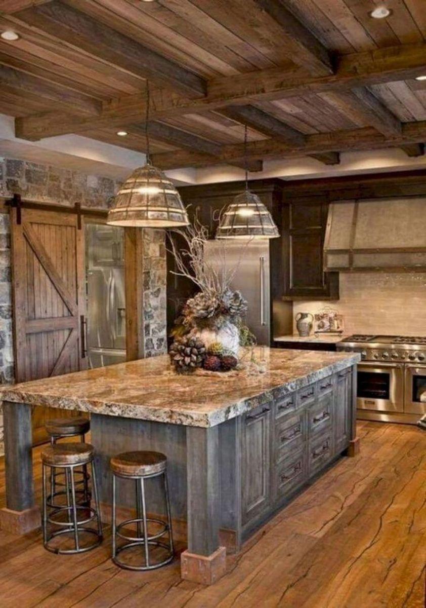 Stunning Rustic Kitchen Design And Decor Ideas 24
