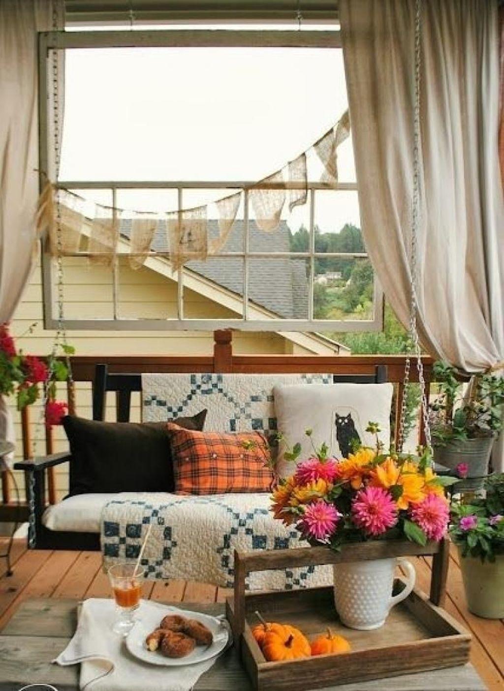 The Best Apartment Balcony Decor Ideas For Fall Season 05