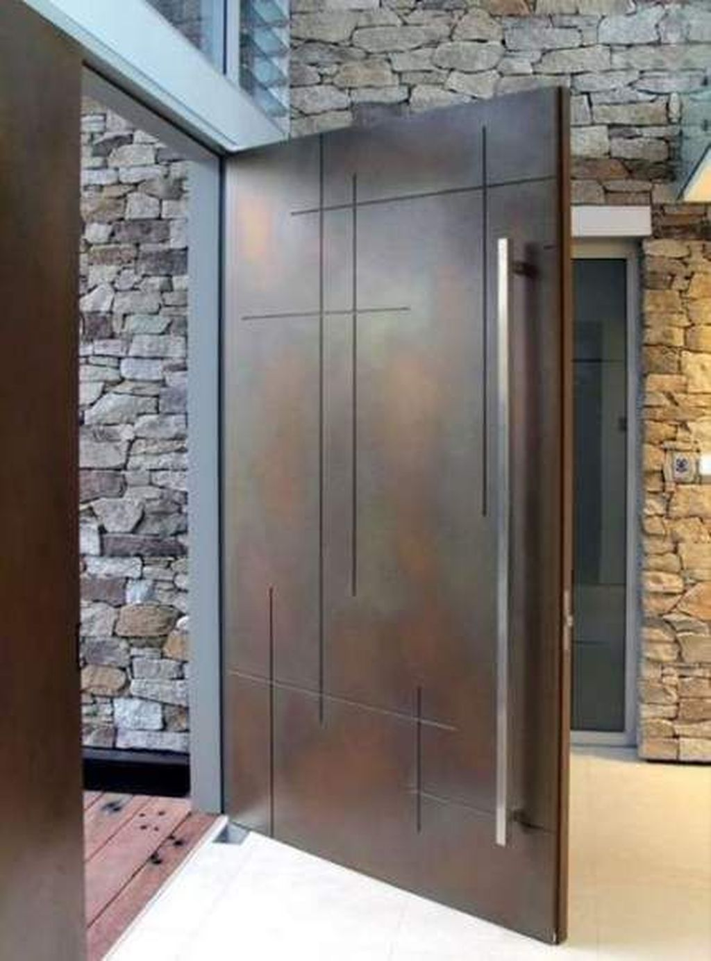 The Best Modern Front Entrance Exterior Design Ideas 13