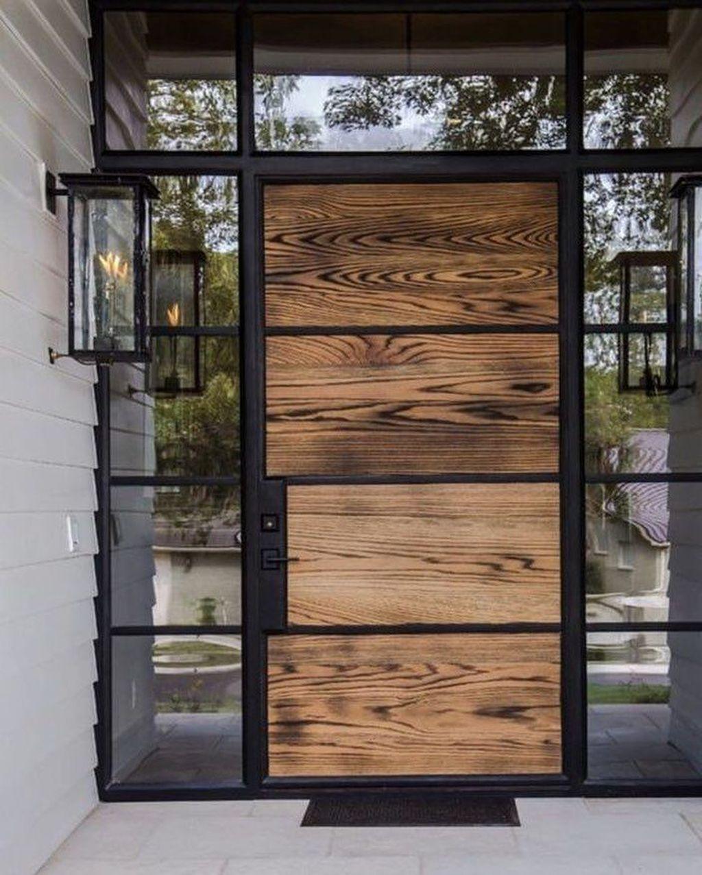 The Best Modern Front Entrance Exterior Design Ideas 27