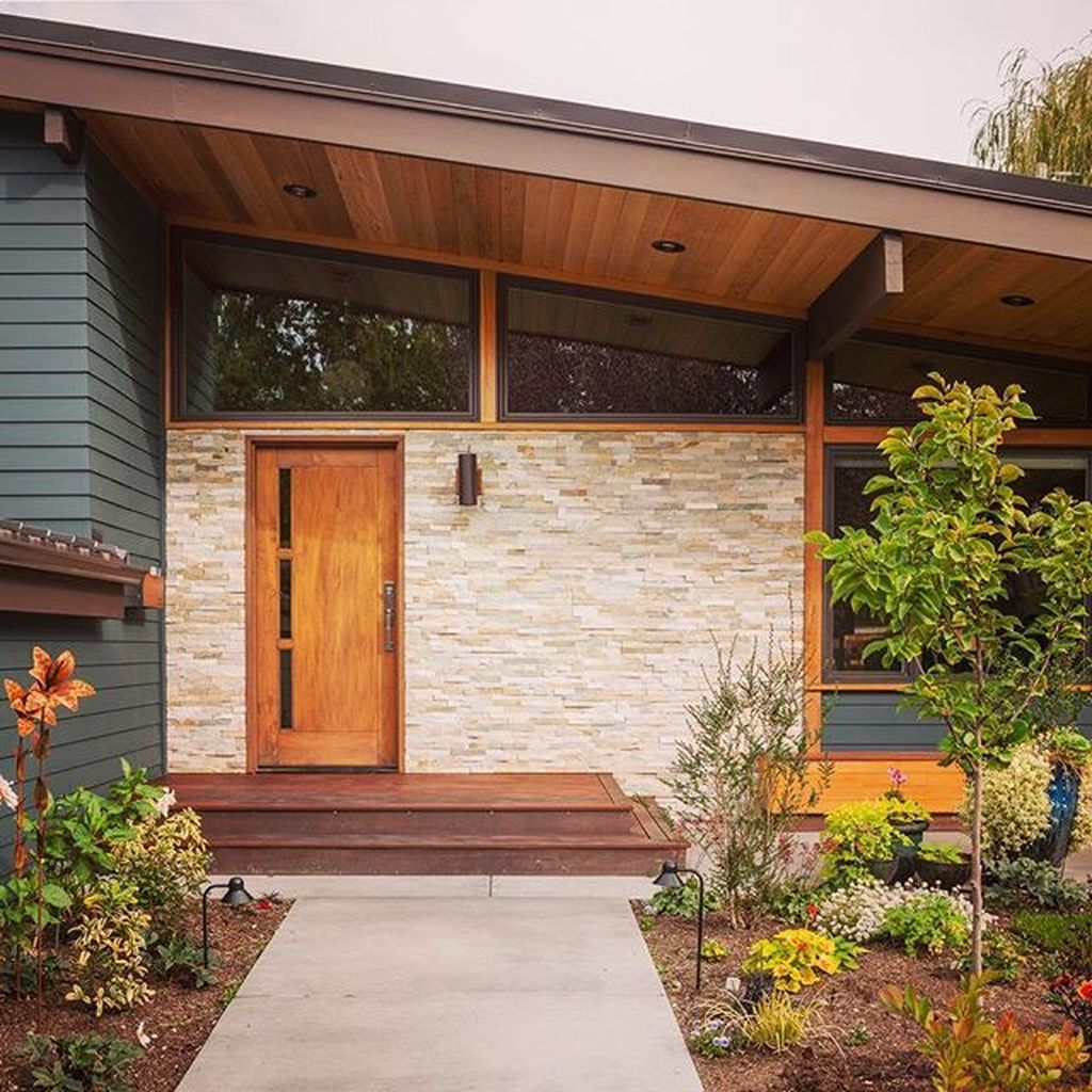 The Best Modern Front Entrance Exterior Design Ideas 28