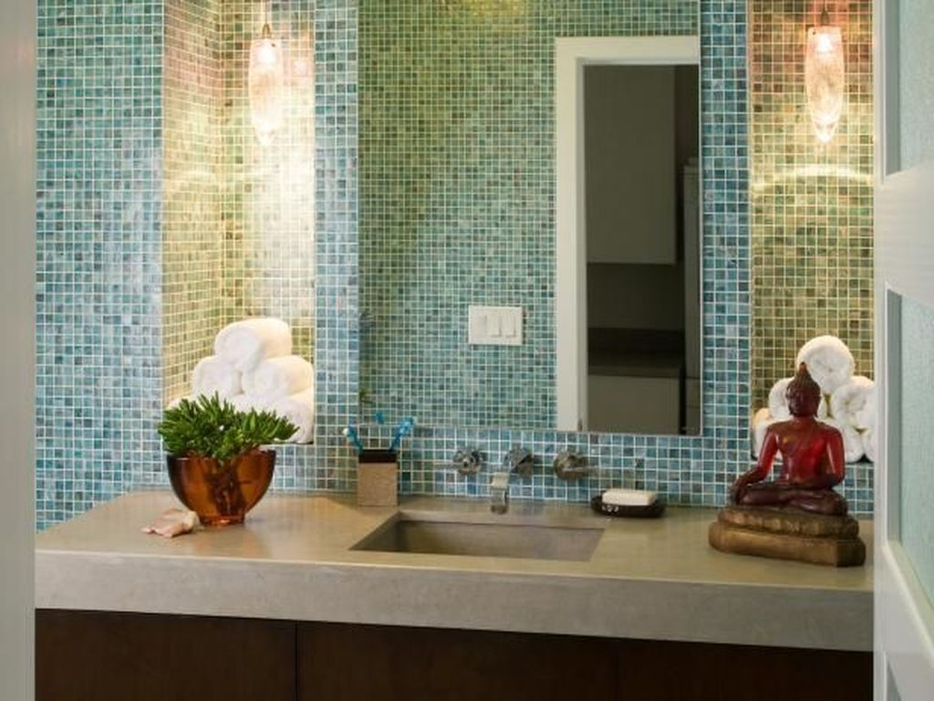 The Best Stone Tile Bathroom Ideas To Decorate Your Bathroom 26