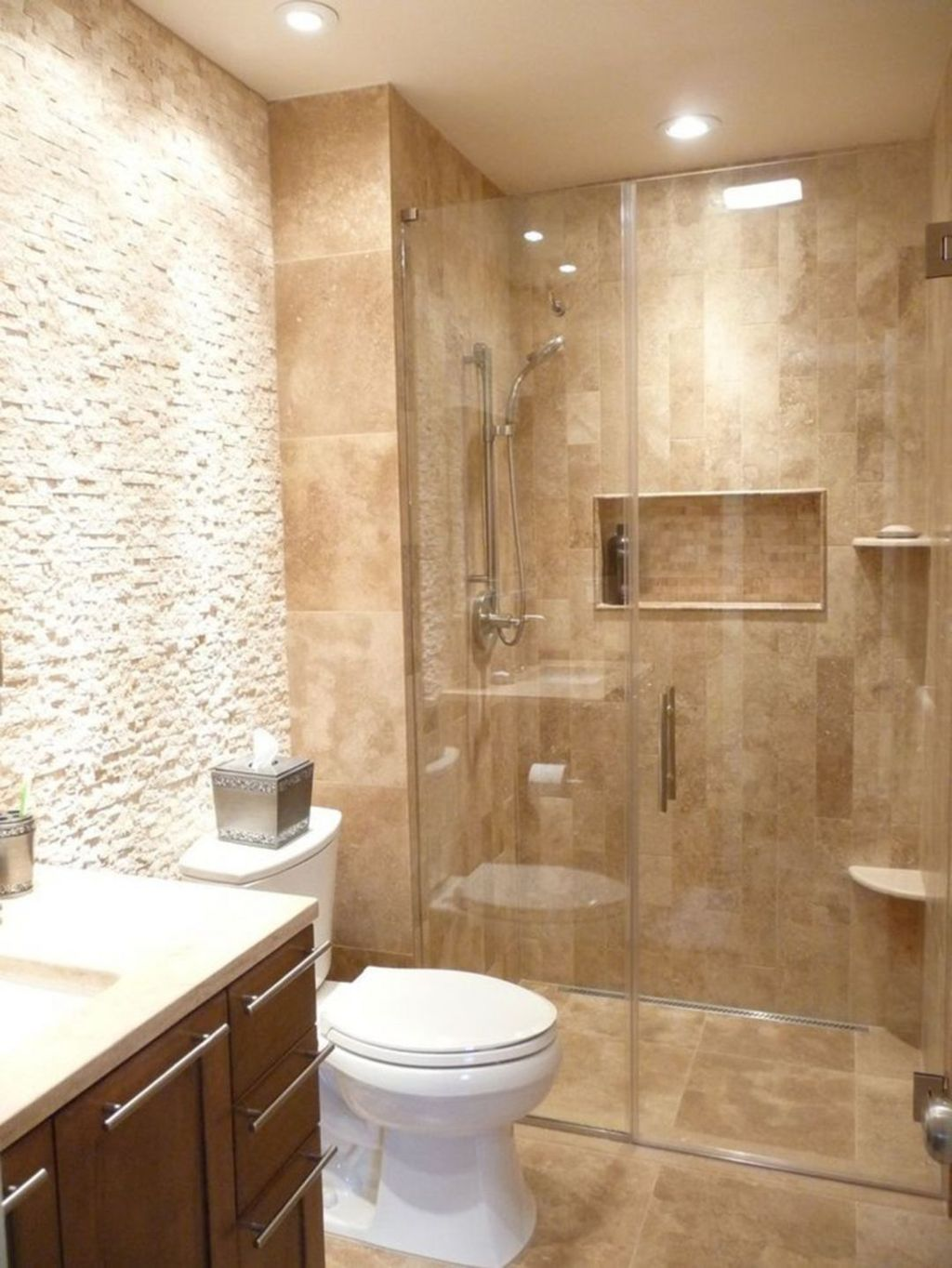 The Best Stone Tile Bathroom Ideas To Decorate Your Bathroom 27