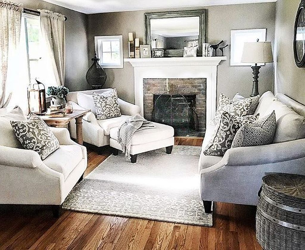 Awesome Living Room Design Ideas With Fireplace 05