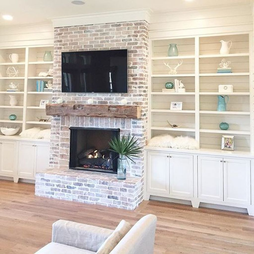 Awesome Living Room Design Ideas With Fireplace 13