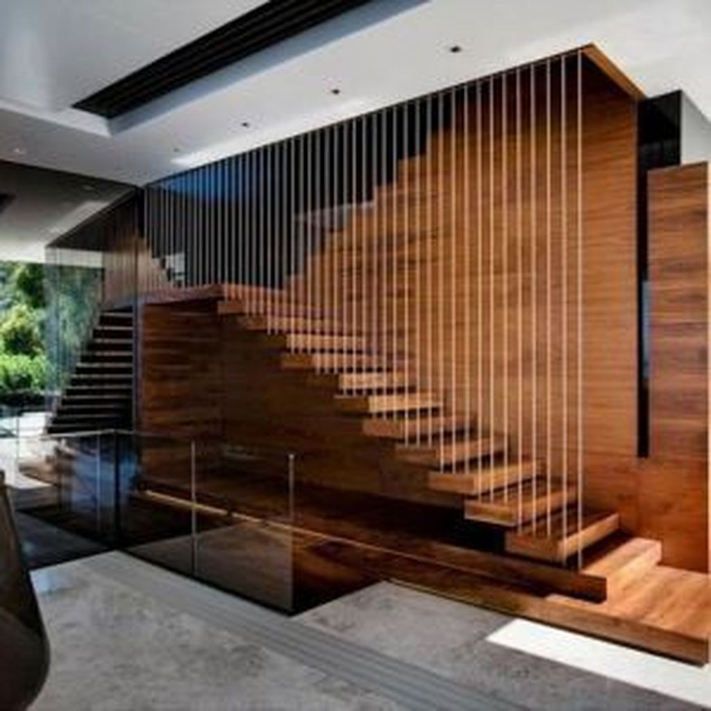Beautiful Home Stairs Design Ideas With Modern Style 03