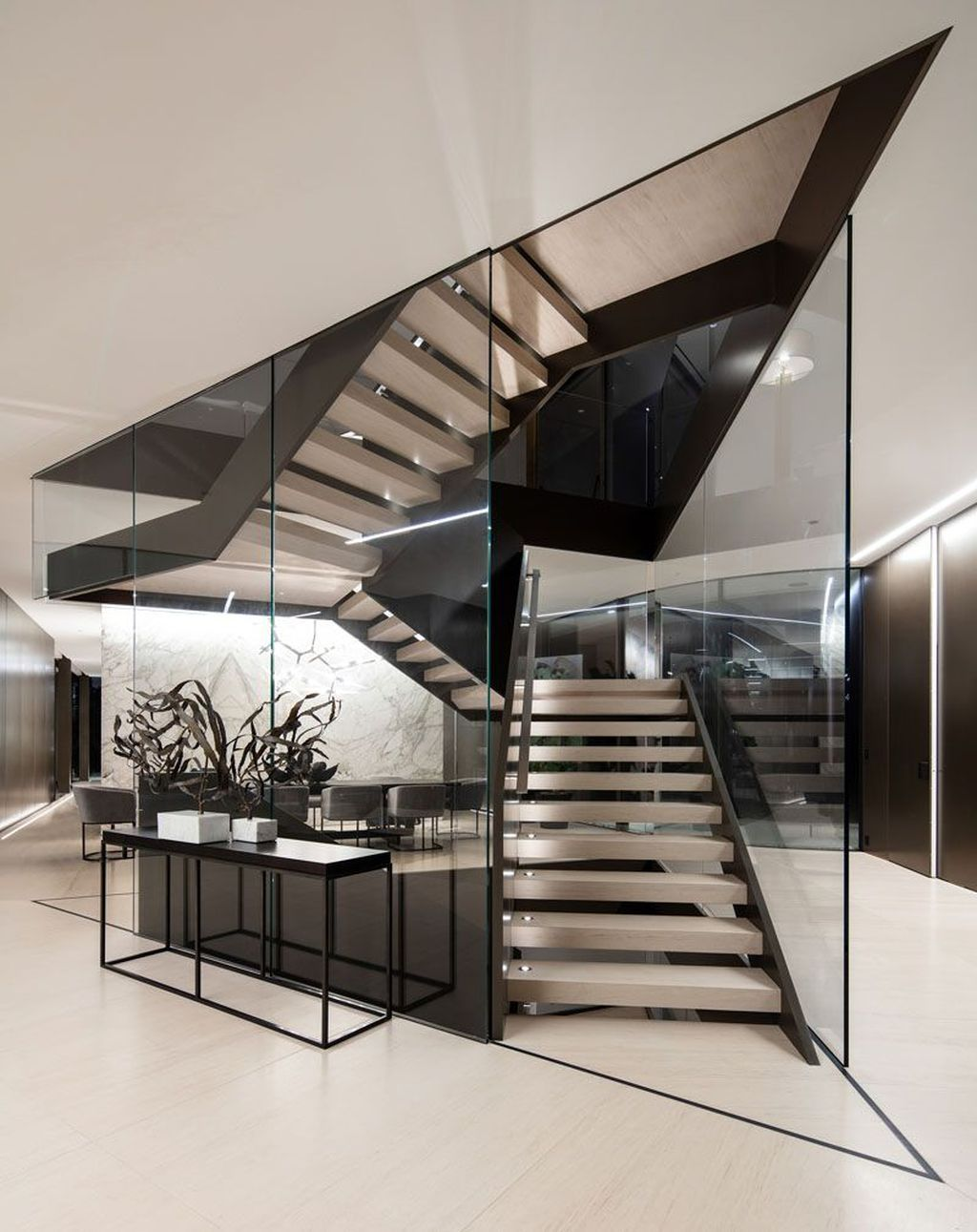 Beautiful Home Stairs Design Ideas With Modern Style 17