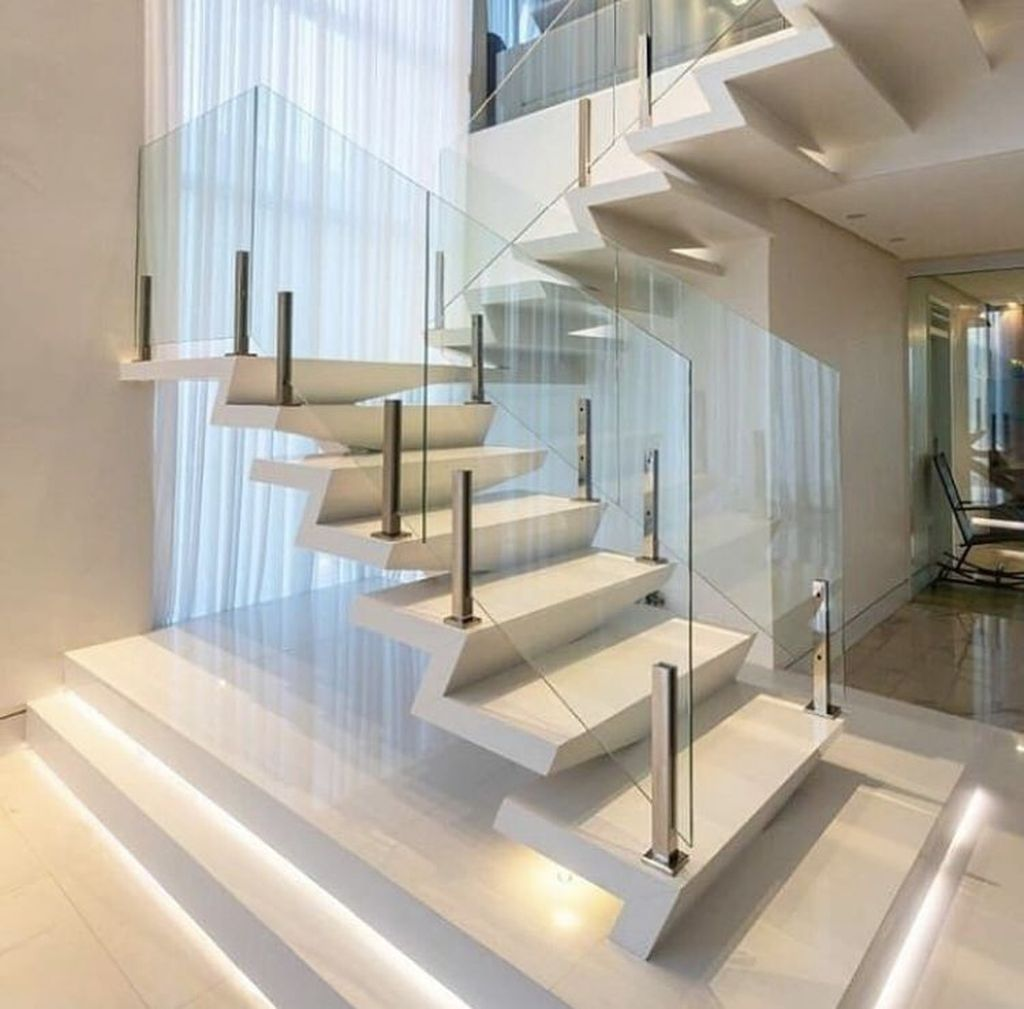Beautiful Home Stairs Design Ideas With Modern Style 19