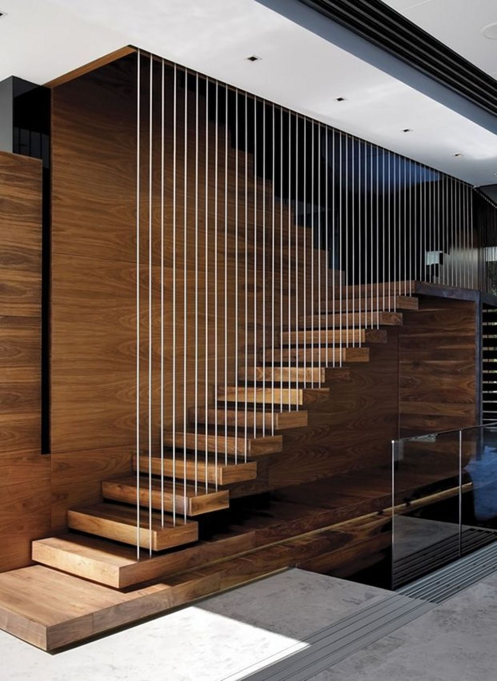 Beautiful Home Stairs Design Ideas With Modern Style 21
