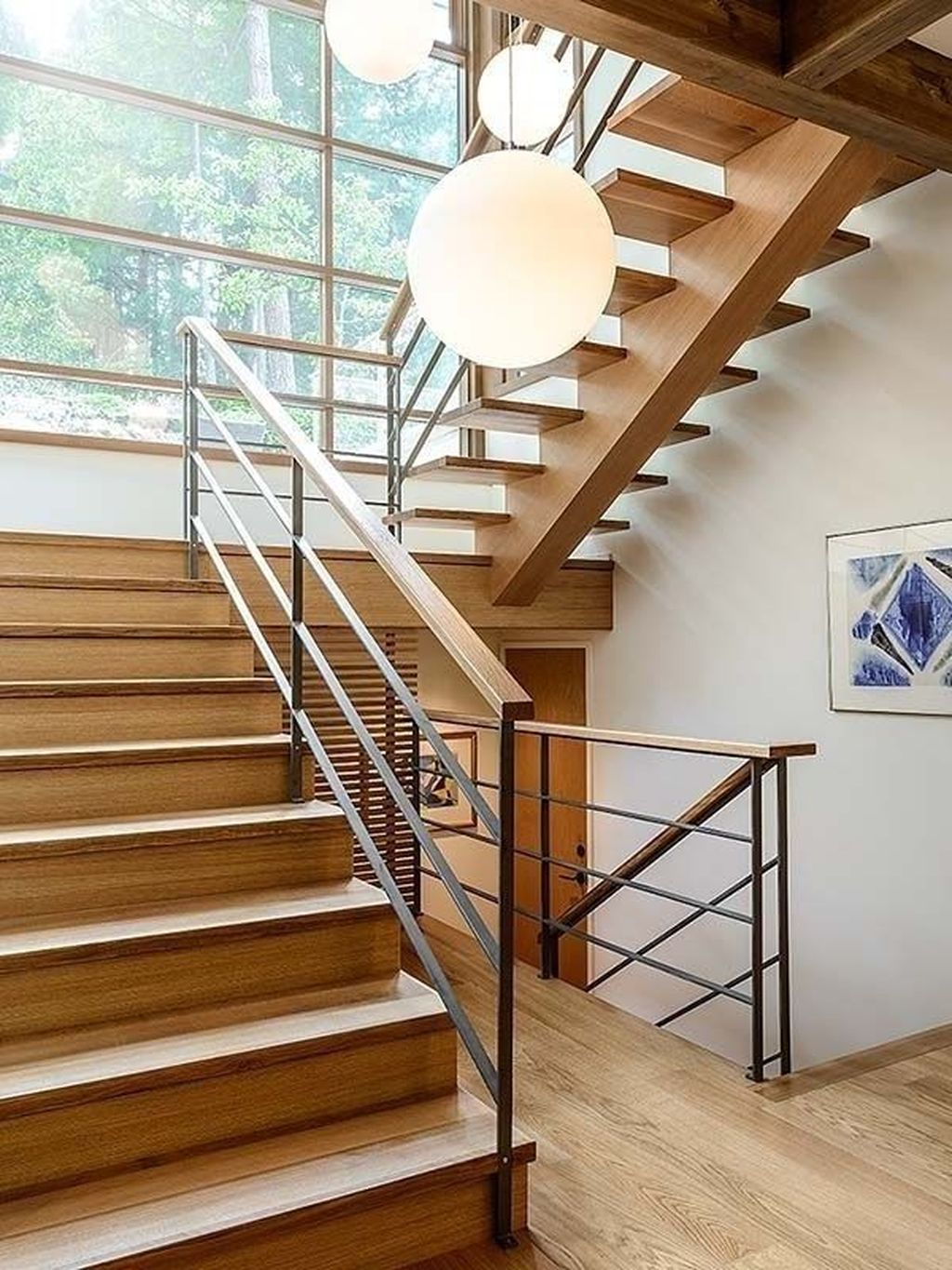 Beautiful Home Stairs Design Ideas With Modern Style 26