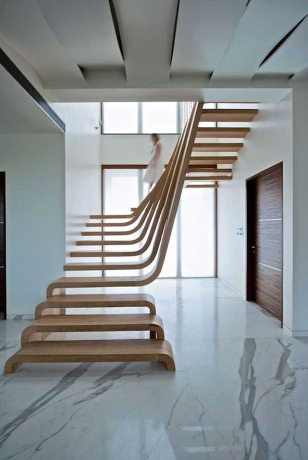 Beautiful Home Stairs Design Ideas With Modern Style 29